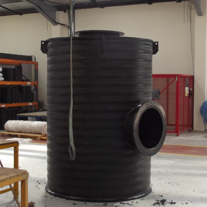 carbon filter chamber pe fabrication